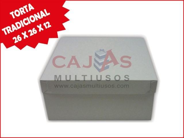 CAJA TORTA TRADICIONAL 26 X 26 X 12