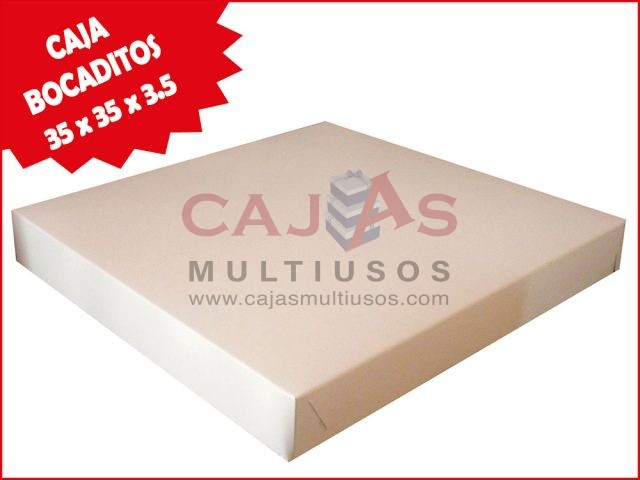 CAJA BOCADITOS CUADRADA 35 x 35 x 3.5