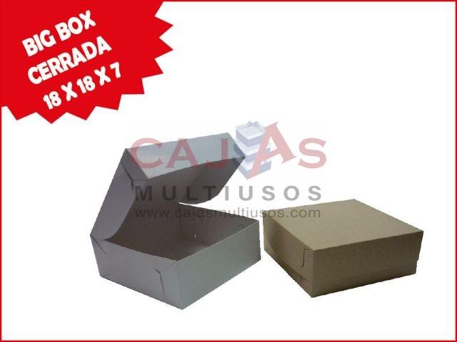 CAJA BIG BOX CERRADA 18 X 18 X 7
