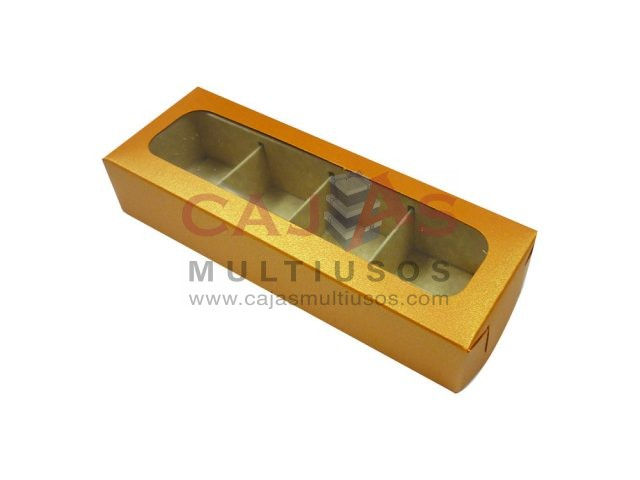 CAJA RECTANGULAR 4 CHOCOLATES