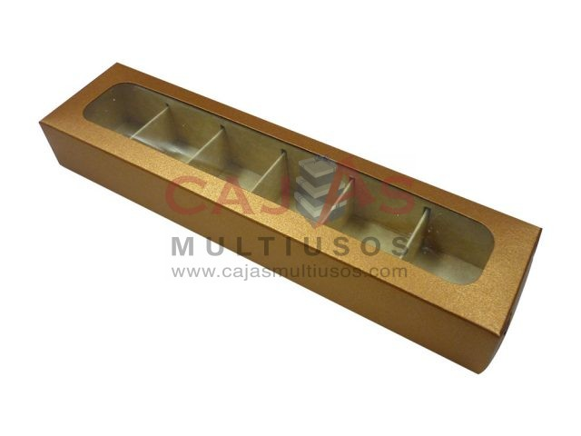 CAJA RECTANGULAR 6 CHOCOLATES