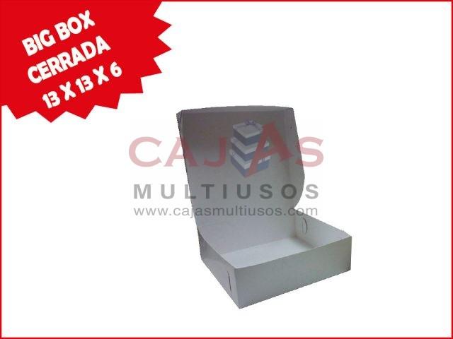 CAJA BIG BOX CERRADA 13 X 13 X 6