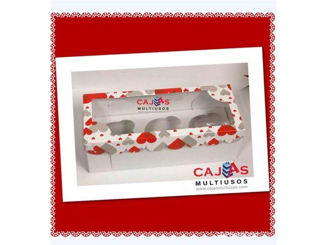 CAJA 3 CUPCAKE O CHOCOBOMBS SAN VALENTIN
