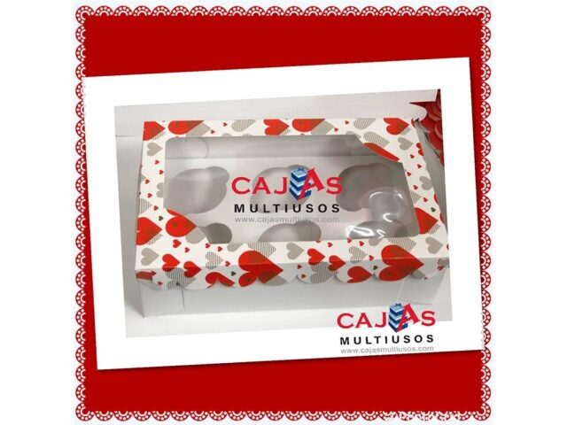 CAJA 6 CUPCAKES O CHOCOBOMS SAN VALENTIN